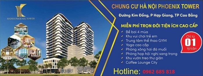 Tiện ích dự án Hà Nội Phoenix Tower cao bằng