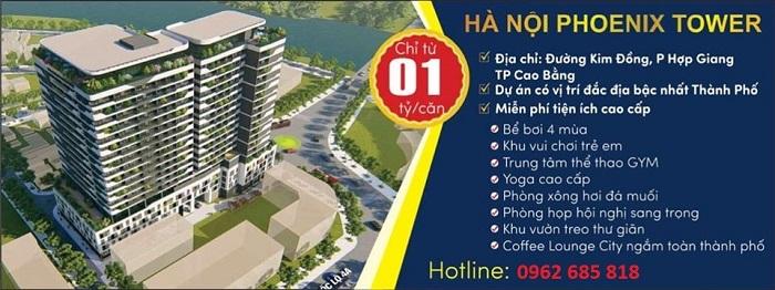 Tổng quan dự án Hà Nội Phoenix Tower cao bằng